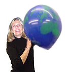 large 16 inch earth balloon Latex