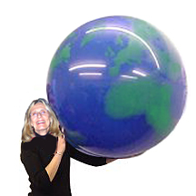 Extra Large 36 inch Earth Balloon Latex