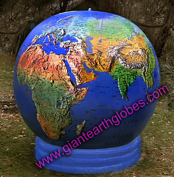 6 ft topo world globe balloon