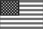 black and white and silver American usa flag