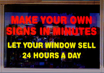 Static Cling Window Lettter Kit