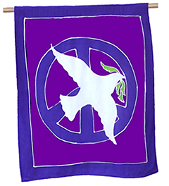 dove of peace flag banner