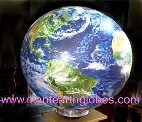 earth globe revolving lazy susan display