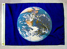 planet earth flag medium size 16x25 inch