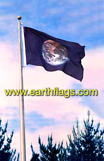 Earth Flag Flying