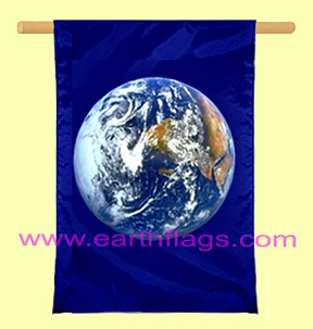 Earth banner vertical