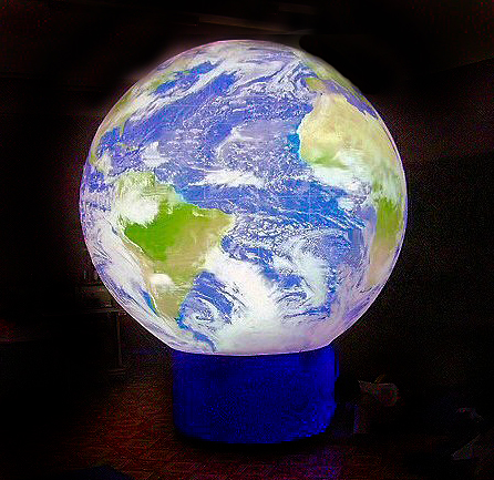 giant earth globe stationary with fan blower 11 ft