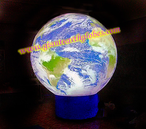 11 ft giant cold air earth globe with fan blower