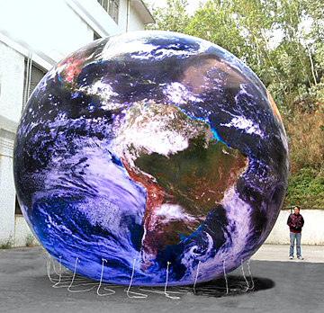 15 ft gigantic earth globe