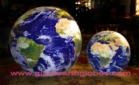 inflatable earth globe 24 and 36 inch