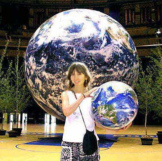 16 inch earth globe and giant earth globe 7 ft