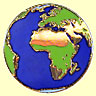 Gold Earth Lapel Pin - Africa