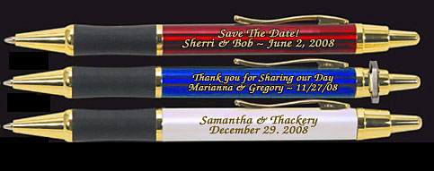 save the date pens engraved
