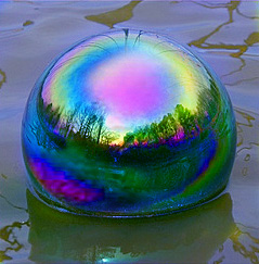 mystic rainbow gazing ball