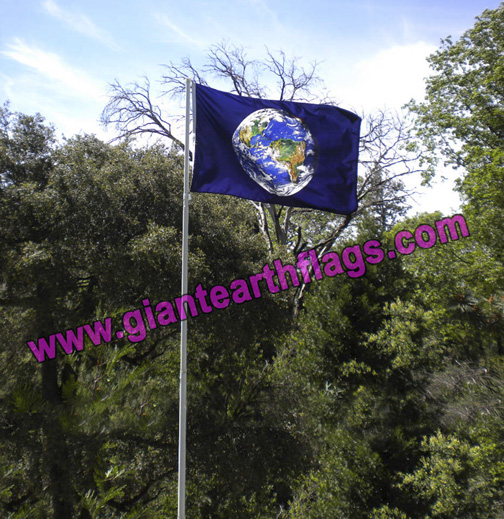 Giant Earth Flag America View