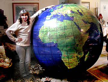 giant 5 1/2 ft world globe