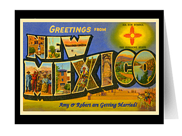 greetings from new mexico vintage greeting card