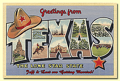 greetings from texas postcard vintage