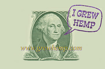 i grew hemp rubber stamp