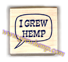 I grew hemp rubber stamp wood mount