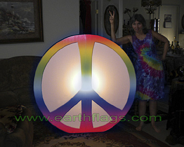 giant peace sign light