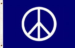 Giant Peace Symbol Flag