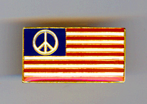 peace American flag lapel pin enamel