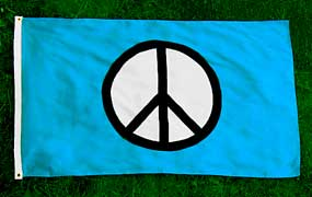 Peace Symbol Flag 6x10 ft