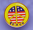 peace american flag lapel pin