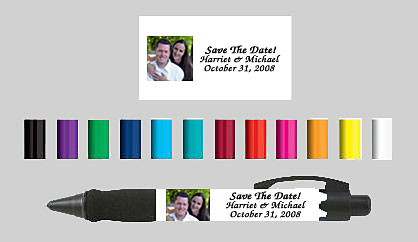 save the date photo pens