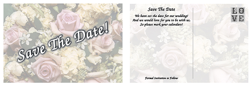 save the date make your own cards