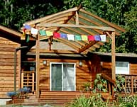Prayer Flags on House