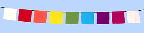 Rainbow Prayer Flags - Write your own Prayers on Flags