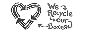 we recycle our boxes heart
