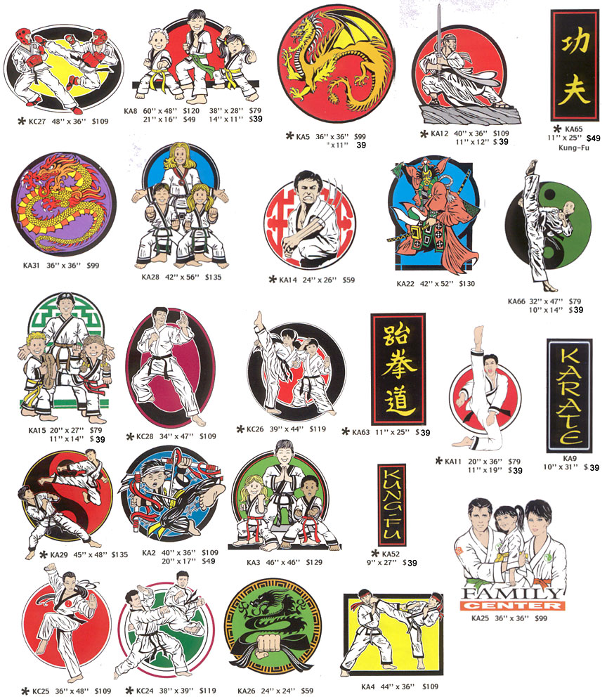 Martial Arts Signs