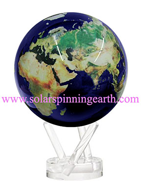 solar spinning earth globe
