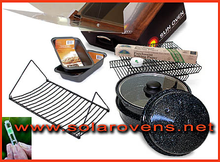 Sun Oven with Pots and Pans and Racks and WAPI