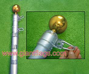 telescoping flagpole sections with twisting locks