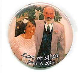 button photo magnet 3 inch metal round custom